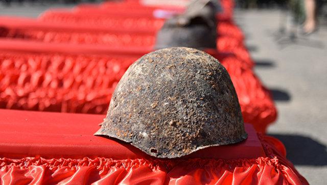 В Кимовском районе Тульской области проведена церемония захоронения останков бойцов Красной армии